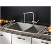 Ruvati RVC2405 Stainless Steel Kitchen Sink and Stainless Steel Faucet Set