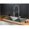 Ruvati RVC2406 Stainless Steel Kitchen Sink and Chrome Faucet Set