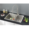 RVC2407 Stainless Steel Kitchen Sink and Stainless Steel Faucet Set