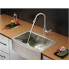 Ruvati RVC2420 Stainless Steel Kitchen Sink and Stainless Steel Faucet Set