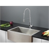 Ruvati RVC2421 Stainless Steel Kitchen Sink and Chrome Faucet Set