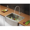 Ruvati RVC2423 Stainless Steel Kitchen Sink and Stainless Steel Faucet Set