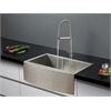 Ruvati RVC2424 Stainless Steel Kitchen Sink and Stainless Steel Faucet Set