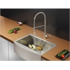 Ruvati RVC2427 Stainless Steel Kitchen Sink and Stainless Steel Faucet Set