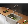 Ruvati RVC2428 Stainless Steel Kitchen Sink and Stainless Steel Faucet Set