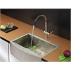 Ruvati RVC2429 Stainless Steel Kitchen Sink and Stainless Steel Faucet Set