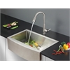 Ruvati RVC2430 Stainless Steel Kitchen Sink and Stainless Steel Faucet Set