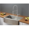 Ruvati RVC2431 Stainless Steel Kitchen Sink and Chrome Faucet Set