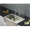Ruvati RVC2434 Stainless Steel Kitchen Sink and Stainless Steel Faucet Set