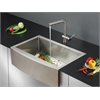 Ruvati RVC2435 Stainless Steel Kitchen Sink and Stainless Steel Faucet Set