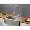 Ruvati RVC2436 Stainless Steel Kitchen Sink and Chrome Faucet Set
