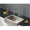 Ruvati RVC2437 Stainless Steel Kitchen Sink and Stainless Steel Faucet Set