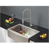 Ruvati RVC2438 Stainless Steel Kitchen Sink and Stainless Steel Faucet Set