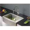 Ruvati RVC2439 Stainless Steel Kitchen Sink and Stainless Steel Faucet Set