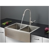 Ruvati RVC2440 Stainless Steel Kitchen Sink and Stainless Steel Faucet Set