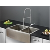 Ruvati RVC2441 Stainless Steel Kitchen Sink and Chrome Faucet Set
