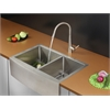 Ruvati RVC2443 Stainless Steel Kitchen Sink and Stainless Steel Faucet Set