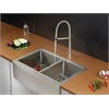 Ruvati RVC2444 Stainless Steel Kitchen Sink and Stainless Steel Faucet Set