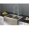 Ruvati RVC2446 Stainless Steel Kitchen Sink and Chrome Faucet Set