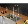 Ruvati RVC2447 Stainless Steel Kitchen Sink and Stainless Steel Faucet Set