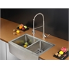 Ruvati RVC2448 Stainless Steel Kitchen Sink and Stainless Steel Faucet Set