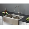 Ruvati RVC2449 Stainless Steel Kitchen Sink and Stainless Steel Faucet Set