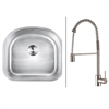 RVC2477 Stainless Steel Kitchen Sink and Stainless Steel Faucet Set
