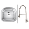Ruvati RVC2478 Stainless Steel Kitchen Sink and Stainless Steel Faucet Set