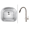 RVC2479 Stainless Steel Kitchen Sink and Stainless Steel Faucet Set