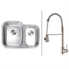 RVC2508 Stainless Steel Kitchen Sink and Stainless Steel Faucet Set