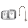 RVC2517 Stainless Steel Kitchen Sink and Stainless Steel Faucet Set