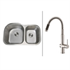 Ruvati RVC2539 Stainless Steel Kitchen Sink and Stainless Steel Faucet Set