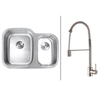 RVC2547 Stainless Steel Kitchen Sink and Stainless Steel Faucet Set