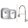 RVC2548 Stainless Steel Kitchen Sink and Stainless Steel Faucet Set