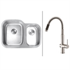 RVC2549 Stainless Steel Kitchen Sink and Stainless Steel Faucet Set