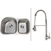 Ruvati RVC2558 Stainless Steel Kitchen Sink and Stainless Steel Faucet Set