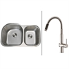 RVC2559 Stainless Steel Kitchen Sink and Stainless Steel Faucet Set
