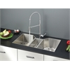 Ruvati RVC2571 Stainless Steel Kitchen Sink and Chrome Faucet Set