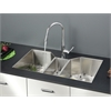 Ruvati RVC2572 Stainless Steel Kitchen Sink and Chrome Faucet Set
