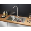 Ruvati RVC2577 Stainless Steel Kitchen Sink and Stainless Steel Faucet Set
