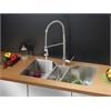 Ruvati RVC2578 Stainless Steel Kitchen Sink and Stainless Steel Faucet Set