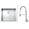 RVC2597 Stainless Steel Kitchen Sink and Stainless Steel Faucet Set