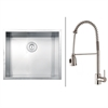 Ruvati RVC2598 Stainless Steel Kitchen Sink and Stainless Steel Faucet Set