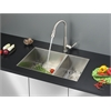 Ruvati RVC2610 Stainless Steel Kitchen Sink and Stainless Steel Faucet Set