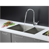 Ruvati RVC2612 Stainless Steel Kitchen Sink and Chrome Faucet Set