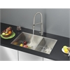 Ruvati RVC2614 Stainless Steel Kitchen Sink and Stainless Steel Faucet Set