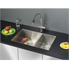 Ruvati RVC2619 Stainless Steel Kitchen Sink and Stainless Steel Faucet Set