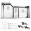 "Ruvati RVH8550 Undermount 16 Gauge 34"" Kitchen Sink Triple Bowl"