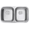 "Ruvati RVK4300 Undermount 18 Gauge 33"" Kitchen Sink Double Bowl"