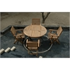 Anderson Teak Bahama Round Dining  5 Piece Set